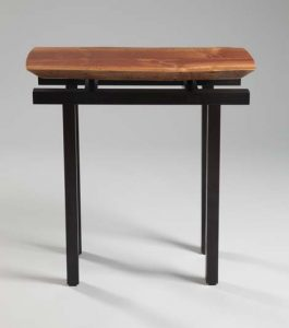 Adrift Display Table in African Sapele with American Black Walnut